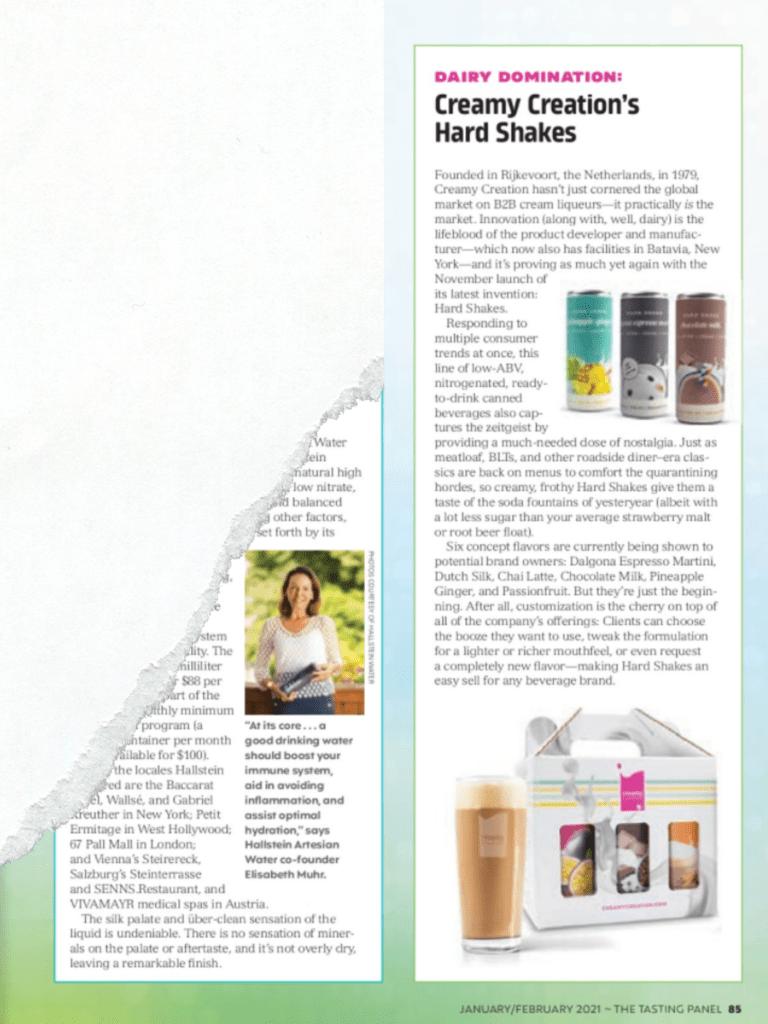 Hard Shakes Artikel im Tasting Panel Magazin